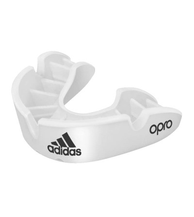 Protector bucal hockey Adidas Opro adidas Mouthguard Bronze - White ADULT-ADIBP31W